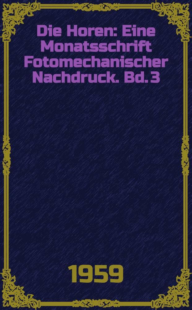Die Horen : Eine Monatsschrift [Fotomechanischer Nachdruck]. Bd. 3 : Jg. 1795. [Stücke 7-9]