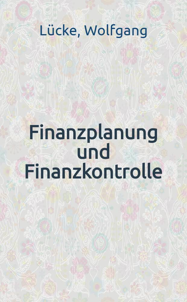 Finanzplanung und Finanzkontrolle