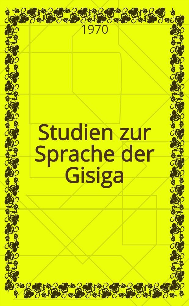 Studien zur Sprache der Gisiga (Nordkamerun)