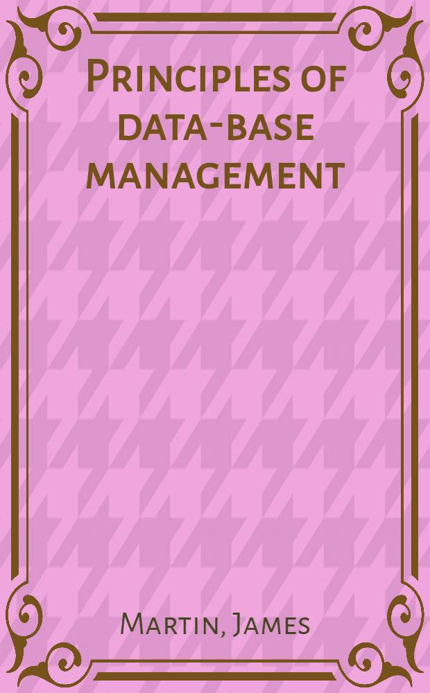 Principles of data-base management