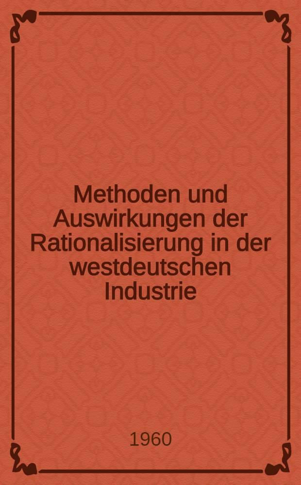 Methoden und Auswirkungen der Rationalisierung in der westdeutschen Industrie