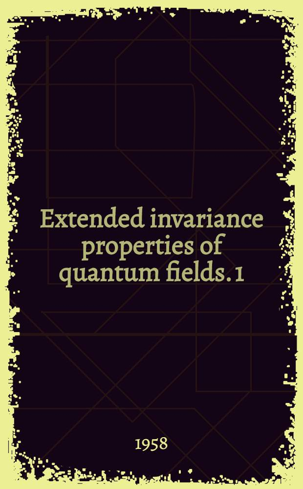 Extended invariance properties of quantum fields. 1 : Lagrangian formalism