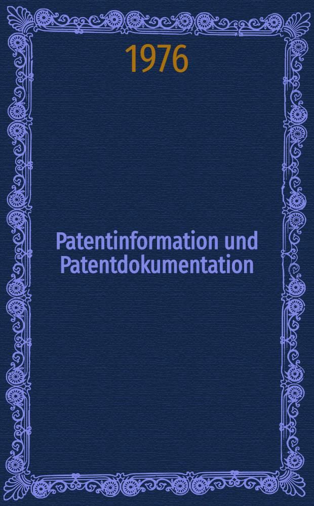 Patentinformation und Patentdokumentation : Ein Bestandsverzeichnis von öffentlich zugänglichen Diensten in den Mitgliedsstaaten der europäischen Gemeinschaften