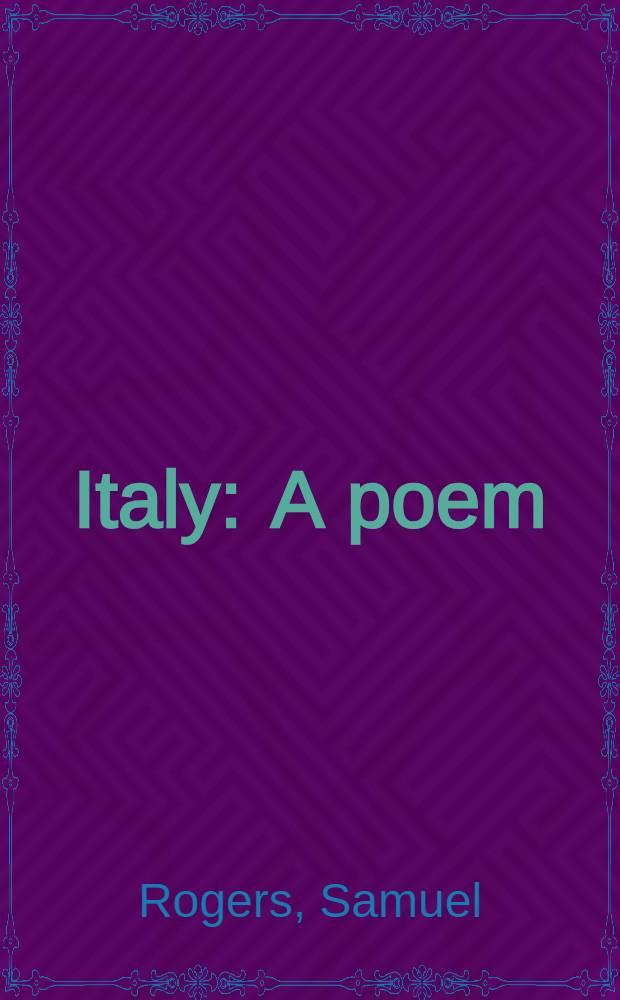 Italy : A poem
