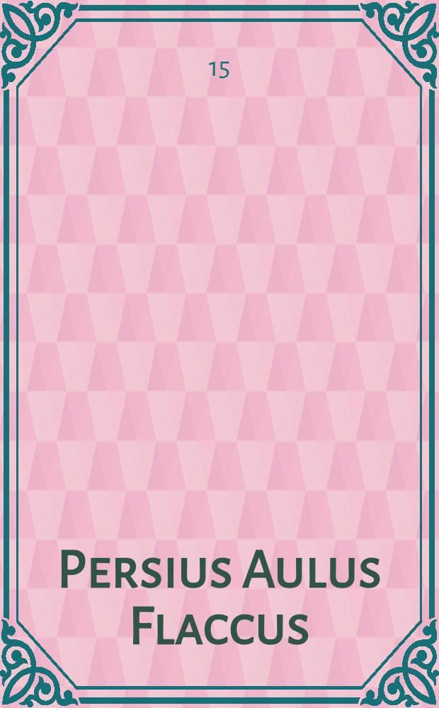 Persius Aulus Flaccus