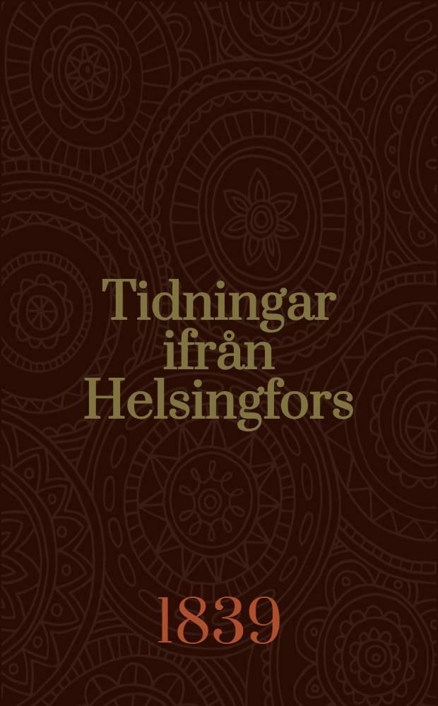 Tidningar ifrån Helsingfors(depuis 1831:Helsingfors Tidningar)