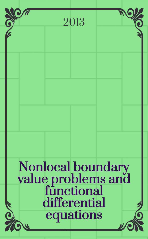 Nonlocal boundary value problems and functional differential equations : education and methodical complex. Pt 1 : Boundary value problems for differential-difference equations