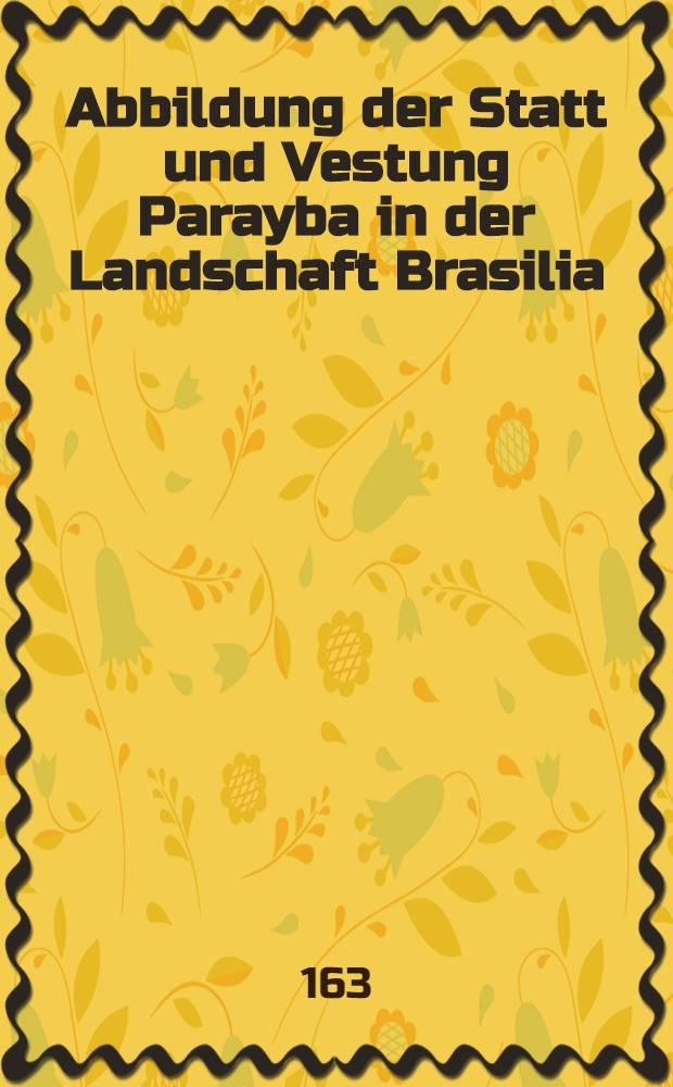 Abbildung der Statt und Vestung Parayba in der Landschaft Brasilia