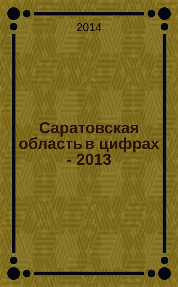 Саратовская область в цифрах - 2013 : краткий статистический сборник