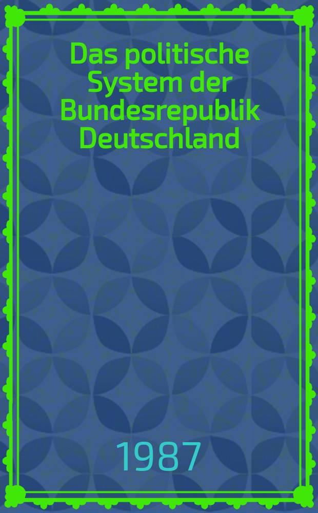 Das politische System der Bundesrepublik Deutschland : Eine Einführung