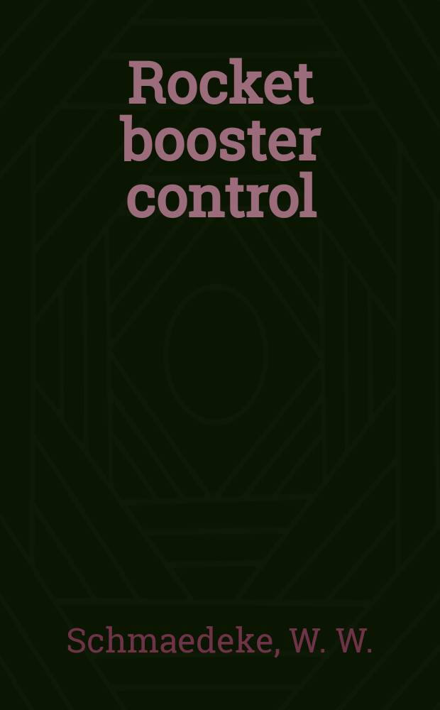 Rocket booster control : Time optimal control with amplitude and rate limited controls