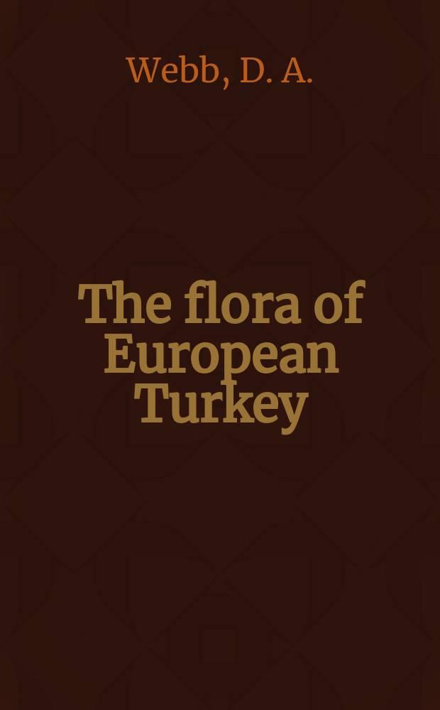 The flora of European Turkey