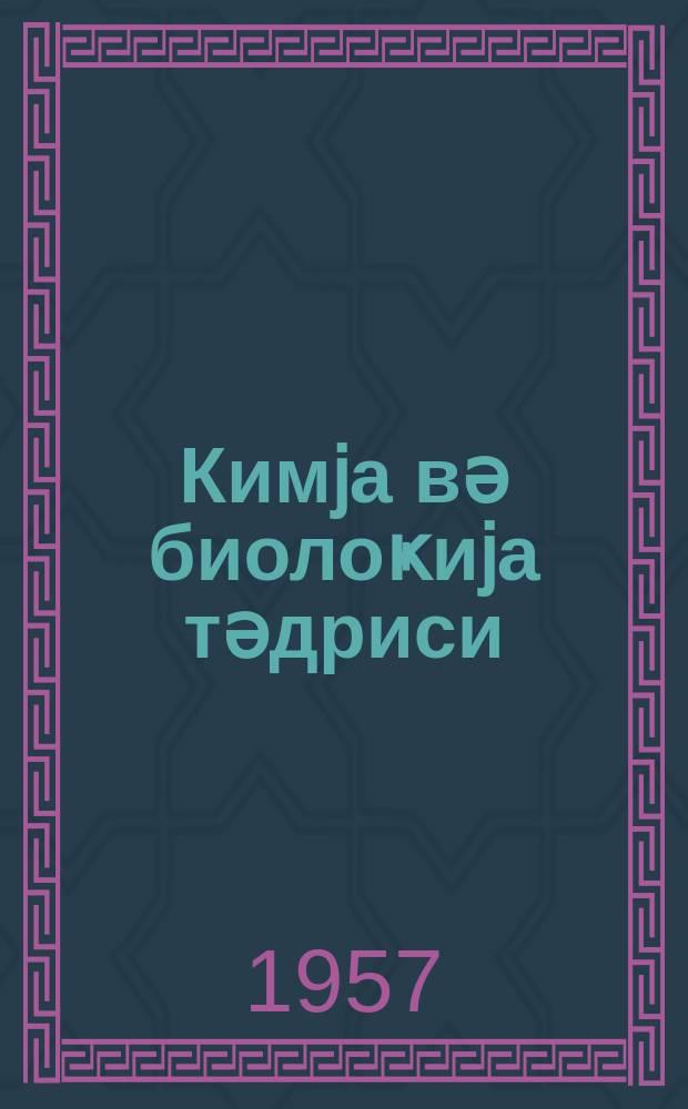 Кимjа вә биолоҝиjа тәдриси : ( методик мәгаләләр мәҹмуәси ) '' Азәрбаjҹан мәктәби '' журналына әлавә. Бур.1.