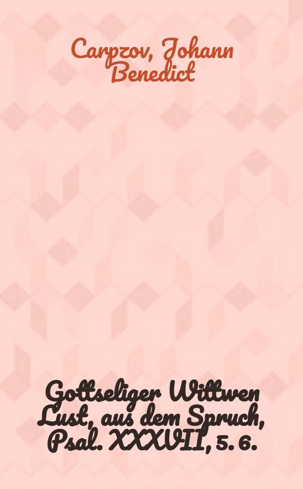 Gottseliger Wittwen Lust, aus dem Spruch, Psal. XXXVII, 5. 6. (Habe deine Lust am Herrn, der wird &c.) bey Christlicher Leich-bestattung der ... Matron, Frauen Reginen, gebohrner Rudloffin, des weiland ... Hn. Gottfried Christian Bosens, der H. Schrifft fürnehmen Doctoris und treuen Predigers an der Kirchen zu S. Thomas in Leipzig sel hinterlassenen Fr. Wittwen, in damahliger Leich-Predigt, den 8. Novembr. Anno 1680. in der Pauliner Kirchen vorgestellet