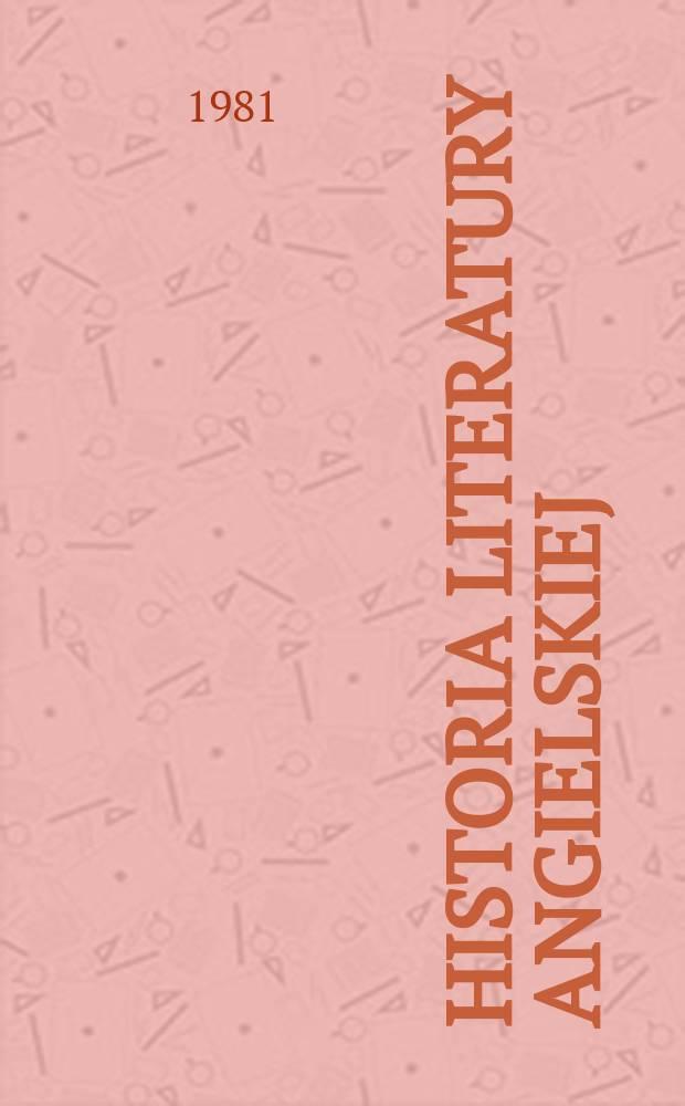 Historia literatury angielskiej : zarys