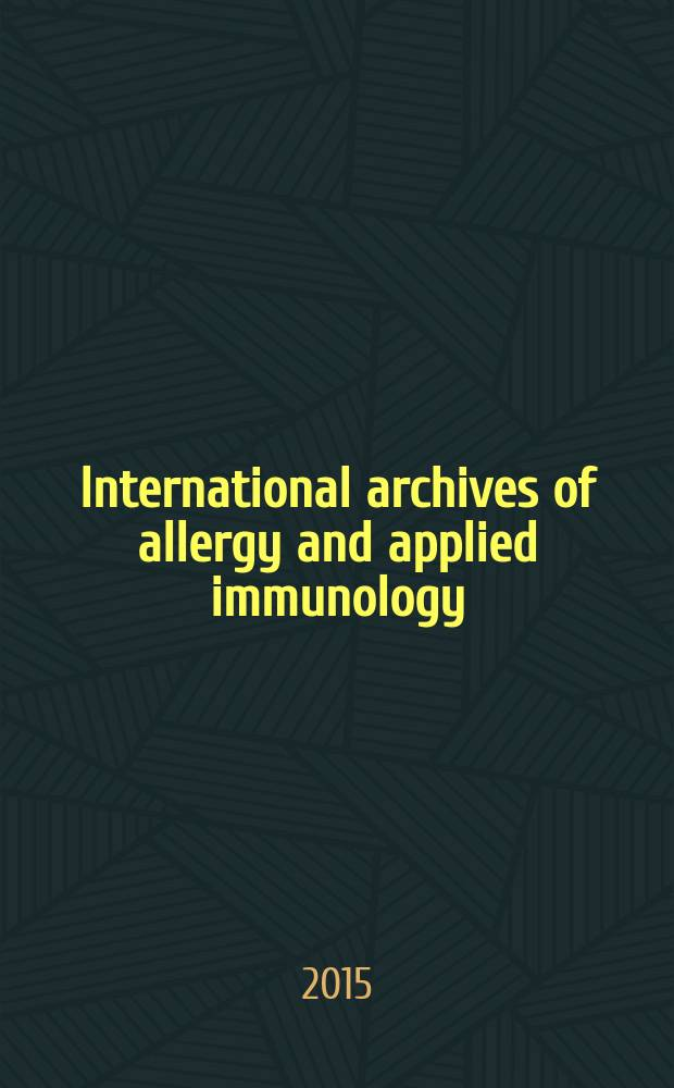 International archives of allergy and applied immunology : Official organ of the international assoc. of allergists. Vol. 167, № 4