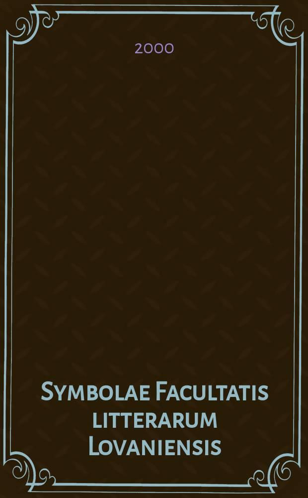 "Symbolae Facultatis litterarum Lovaniensis : a collection of studies by members of the Faculty of arts at the ""Katholieke universiteit Leuven"" (Louvain, Belgium). Vol. 8 : Natural language processing in medicine = Обработка естественного языка в медицине."