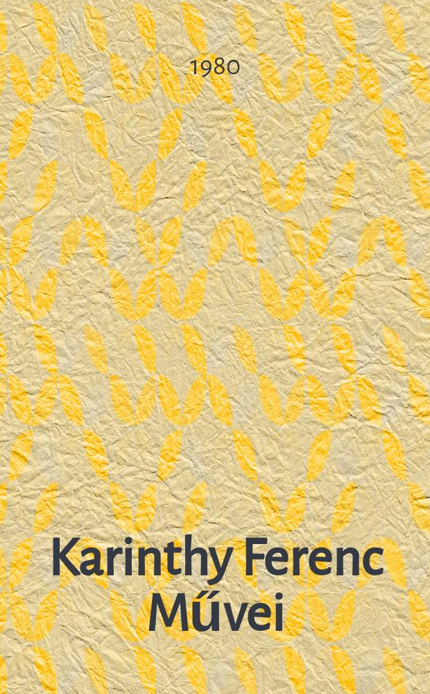 Karinthy Ferenc Művei