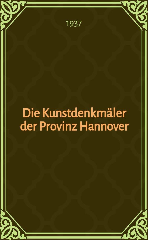 Die Kunstdenkmäler der Provinz Hannover