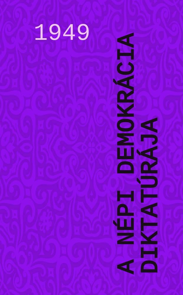 A népi demokrácia diktatúrája