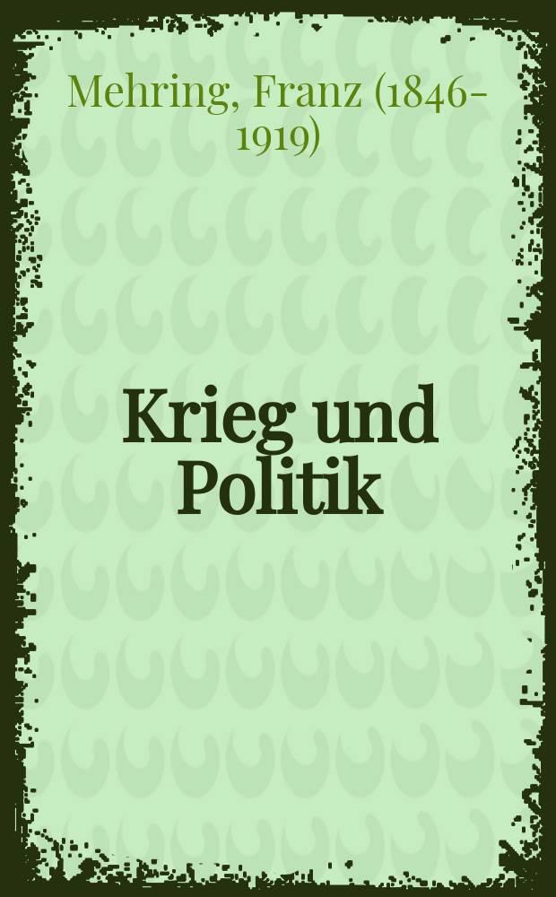 Krieg und Politik