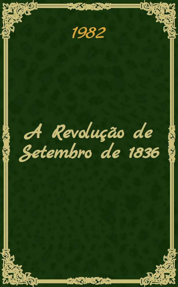 A Revolução de Setembro de 1836 : Geografia eleitoral