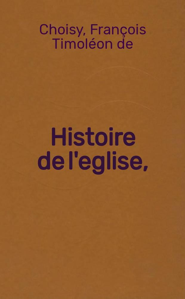 Histoire de l'eglise,