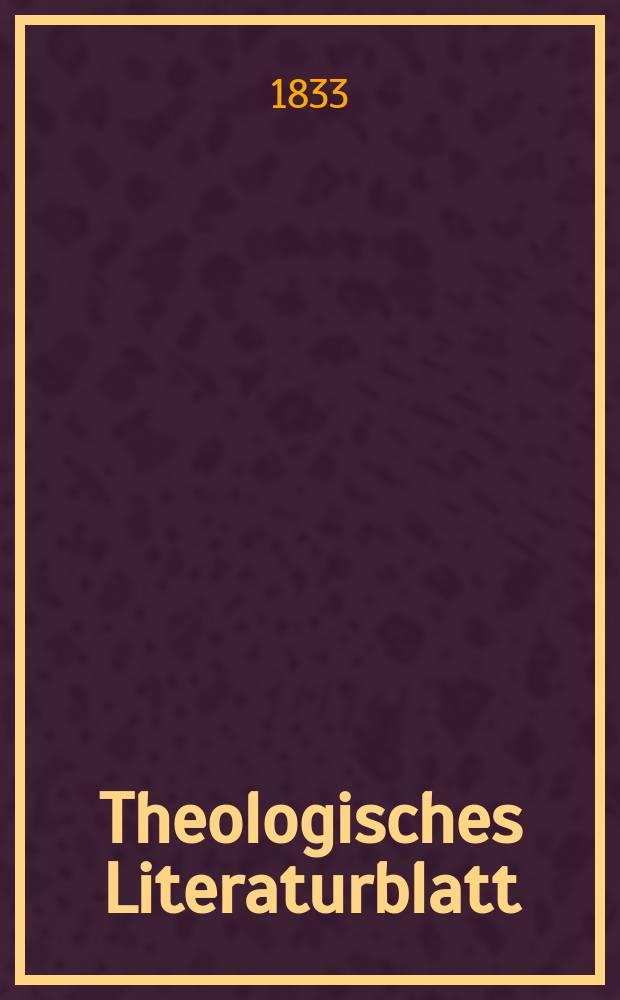 Theologisches Literaturblatt : zur Allgemeinen Kirchenzeitung. 1833, № 110