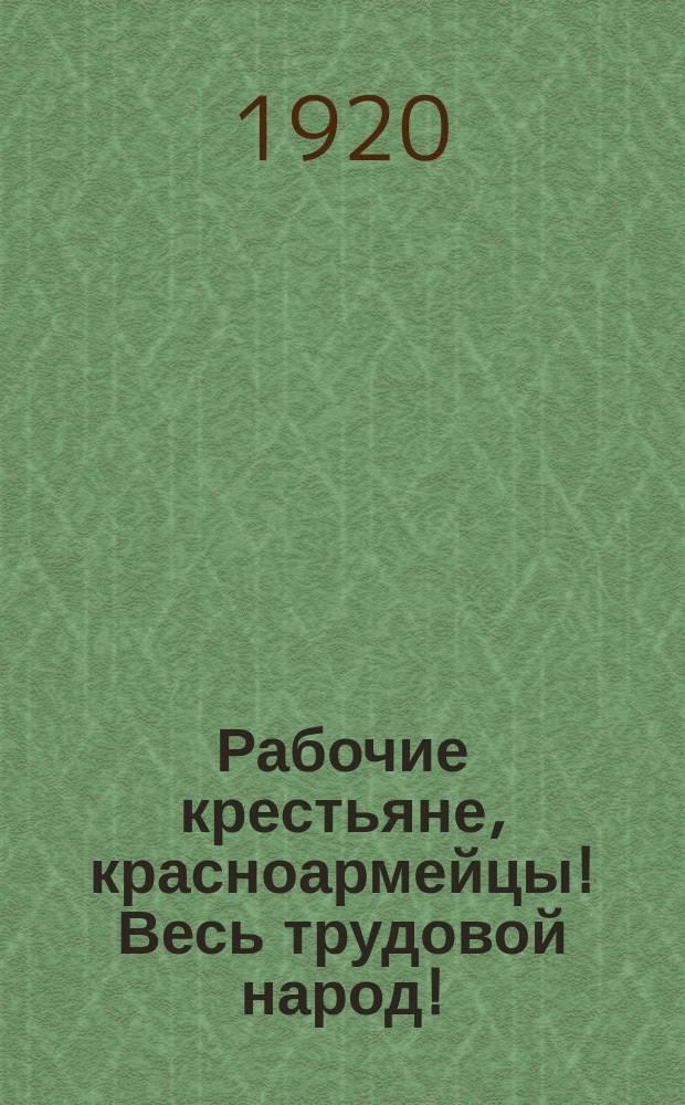 Рабочие крестьяне, красноармейцы! Весь трудовой народ! : листовка