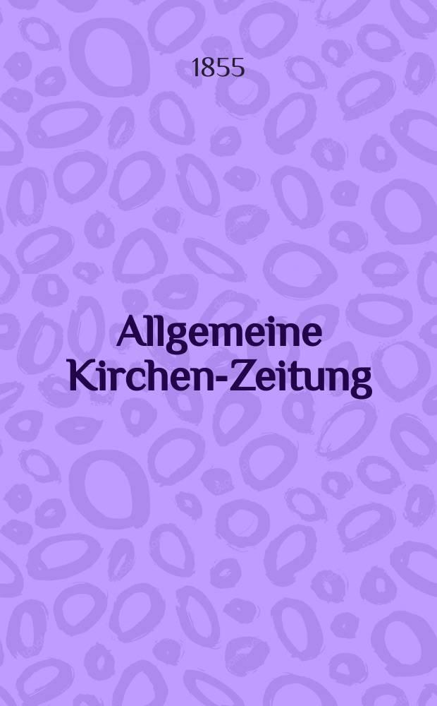 Allgemeine Kirchen-Zeitung : ein Archiv für die neueste Geschichte und Statistik der christlichen Kirche, nebst einer kirchenhistorischen und kirchenrechtlichen Urkundensammlung. Jg. 34 1855, Bd. 2, № 125